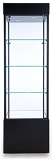 Square Tower Trophy Cabinet with  Bottom Storage