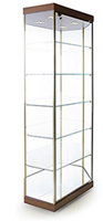 Stretched Hexagonal Glass Cabinet
