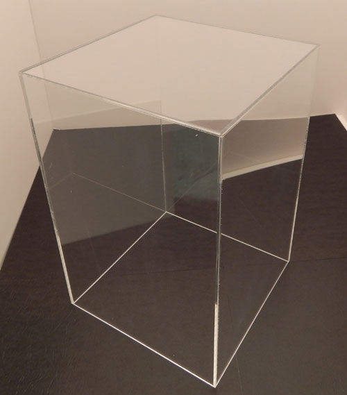 5 Sided Tall Acrylic Doll Display Box, Available in 4 Sizes