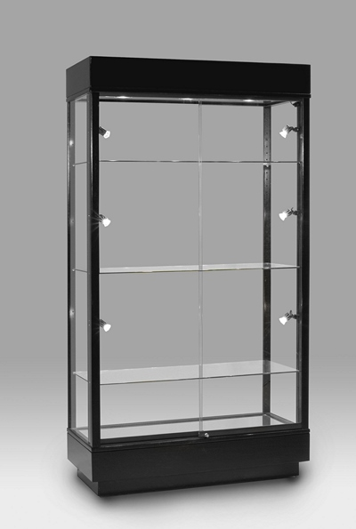 tall wooden glass display tower wall display cases achieve display. Black Bedroom Furniture Sets. Home Design Ideas