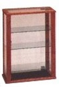 Tall Wooden Rectangular Countertop Display Cabinet