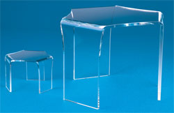 Three Legged Clear Acrylic Riser, Choose Size