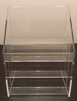 Gridwall Brochure Holder, 3 Tier - Choose Size