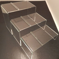 Acrylic Slant Shoe Display, Available in 3 Sizes