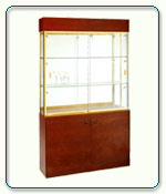 Rectangular Wall Display Case - 48W x 13.5D x 80H - Exceptional Series