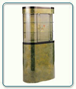 Curved Wall Display Case - 37.5W x 11D x 76H - Exceptional Series