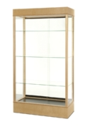 Wide Rectangular Wooden Glass Display Case