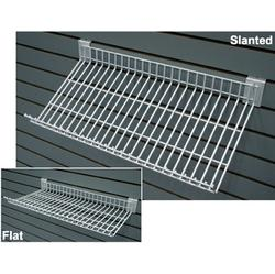 Adjustable Heavy Duty Wire Slatwall Shelf - 10 per box
