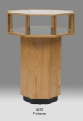 Wood Glass Octagon Feature Case