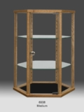 Wood Hexagon Glass Countertop Display Cabinet