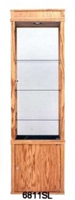Wood Square Tall Display Cabinet