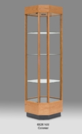 Wood Tall Glass Wood Display Cabinet