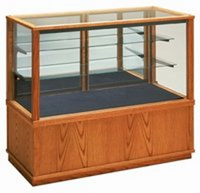 Wooden Full View Glass Display Case - 4'