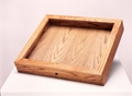 Wooden Glass Countertop Case With Flat Top