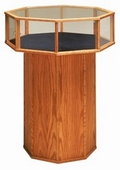 Wooden Glass Feature Case - Octagon