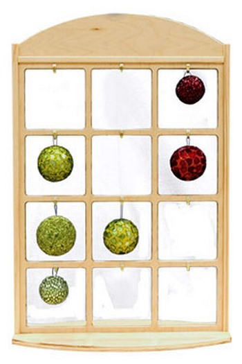 Wooden Ornament Display Rack