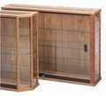 Wooden Rectangular Glass Wall Display Cabinet