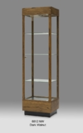 Wooden Rectangular Tall Glass Display Cabinet