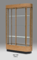 Wooden Wide Octagon Tall Glass Display Case